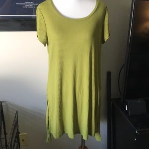 THE LIMITED OLIVE GREEN LONG TEE
